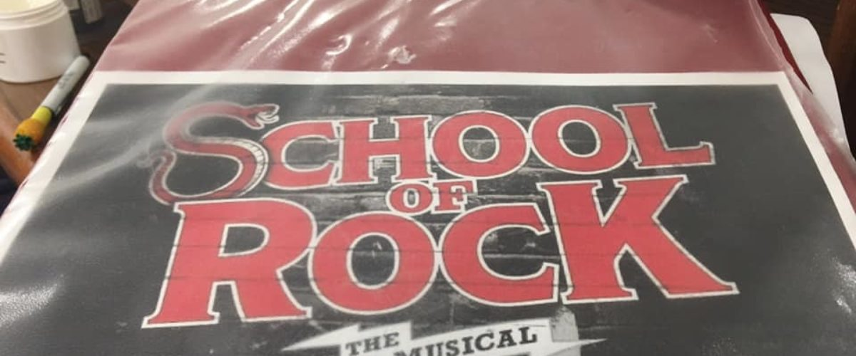 Backstage at School of Rock!